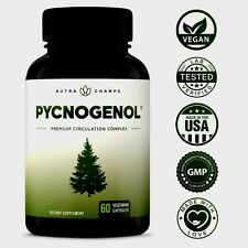 Pycnogenol Nutra Champ Premium Circulation W/ Herbal Complex 60 Veg.Caps 02/ 23