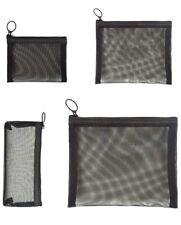 Patu Zipper Mesh Bags, Pack of 4 (S/M/L & Pencil Pouch), Beauty Makeup Cosmetic