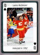 2006 Hockey Hall Of Fame Playing Card #10 Lanny McDonald