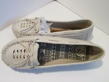 So Kohls moccasin flats Shoes Ladies size 5.5 Winter White Ivory 7-1814A