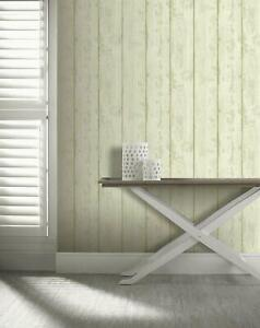 Arthouse Washed Wood Effect Textured Cream Green Rust Paste The Wall Wallpaper