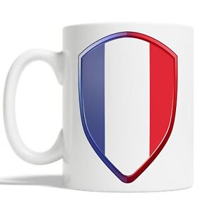 French Flag Mug Coffee Cup Gift Idea Sports 6 Nations Rugby France Badge JA117