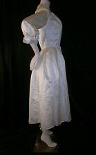 FANCY NY VTG INSPIRED WHITE TEA LENGTH SIZE 6  WEDDING GOWN DRESS SILK