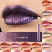 FOCALLURE New Metallic Metal Lipstick Lip Gloss Liquid Matte Beauty Makeup Set