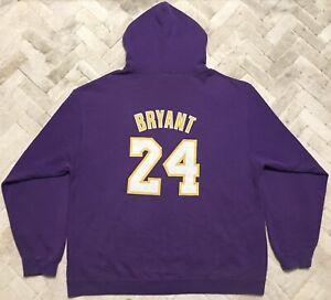 Authentic Adidas Kobe Bryant Los Angeles Lakers NBA Hoodie Sz XXXL 3XL
