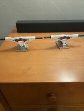 """Krux White Roses 8.0"""" Skateboard Truck Comes With Spare Washers Hardware Nuts"""