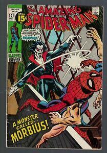 Marvel comics Amazing Spiderman 101 1st Morbius Vampire 1971 VG+ 4.5