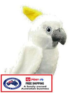 1 X PLUSH COCKATOO 20CM teddy bird gift toy stuffed animal native christmas