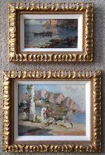Ezelino Briante Italian 1901-1971 Views Of Capri (2) Impressionist Paintings Art