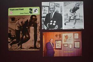 3x Jesse Owens Germany Berlin 1936 Olympic Games Athlete postcards Athletics