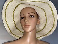 Wallaroo Hat Company Boulder Colorado SavannaH Floppy Straw Hat New UPF 50