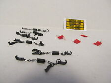 1 DCP 1/64 SCALE  WIDE LOAD, OVERSIZE LOAD DECAL, 6 CHAINS & 4 FLAGS