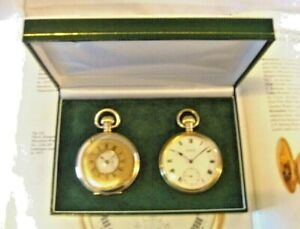 Pocket Watch Box Antique Style For Two Pocket Watches Quality Green Display Box