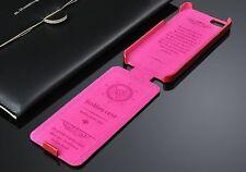 Appel iPhone SE/5s/5 Farbe Pink Schutzhülle Leder Case Flip Klappe Luxus A 🇩🇪