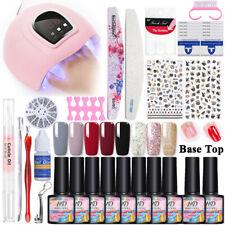 MAD DOLL Gel Nail Polish Kit 8 Colors LED UV Lamp 54W Nail Dryer Nail Art Gel