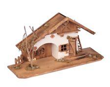 XXL Holzhaus 55 cm Haus Holz Krippe Landhaus Modell Holzhaus Krippenstall