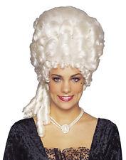 Marie Antoinette Platinum Blonde White Powder Victorian Womens Costume Wig