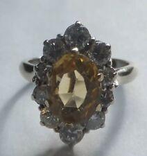 Antique Yellow Sapphire & Diamond 18ct Gold Ring