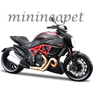 MAISTO 20-11023 DUCATI DIAVEL CARBON BIKE MOTORCYCLE 1/12 BLACK RED