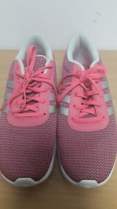 Girls / Ladies Pink Trainers From Adidas Neo, Size 5
