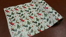 Quarter ream 24 inch wide Angels and Deer gift wrap 208 feet 1/4 ream