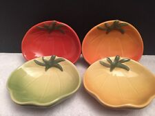 Williams Sonoma Dipping Dish Heirloom Tomatoes Vegetable Set of 4 Bowls Dishes