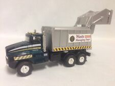 "City Garbage Waste Disposal Truck 6.25"" Diecast Pull Back To Go Toy Green"