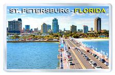 ST. PETERSBURG FLORIDA USA FRIDGE MAGNET SOUVENIR IMAN NEVERA