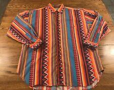 Vintage Union Bay L/S Button Front Shirt Adult L Wild Crazy 90's Aztec Colorful