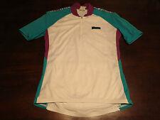 Hind Womens White Pink Teal Bike Cycling Jersey Sz M Medium Shirt USA Retro MTB
