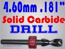 ".181"" 4.60mm  -Solid Carbide Drill Bit - 1/8"" Shank -Sharp! CNC Hobby Model -lu"
