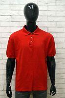 Polo Uomo VALENTINO SPORT Taglia 56 Maglia Maglietta Shirt Manica Corta Rosso