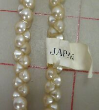 "1,008 vintage 6mm tiny glass shank buttons ivory Japan 1/4"" beads"