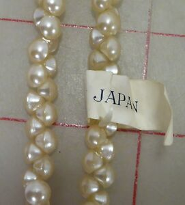 """1,008 vintage 6mm tiny glass shank buttons ivory Japan 1/4"""" beads"""