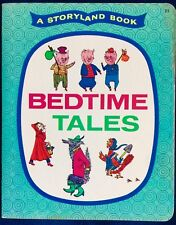 BEDTIME TALES ~ Red Hen, Red Riding 1960's Children's Storyland Sturdy Book
