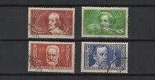 FRANCE 1936 au profit des chômeurs série complète de 4 timbres oblitérés /T1868
