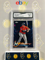 2018 Topps Chrome Justin Bour 91/299 Purple Refractor - 10 GEM MINT GMA Graded