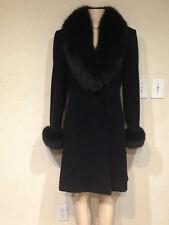 Marvin Richards Women's Winter real fox fur Lambswool 3/4 Jacket coat size 6 new