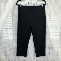 Pure J Jill Small Slim-Leg Cropped Black Pants Stretchy Pima Cotton Crop B40