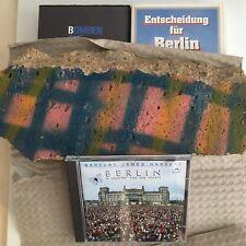 Großes Mauerstück original Stück der Berliner Mauer von 1989 + Filme + CD