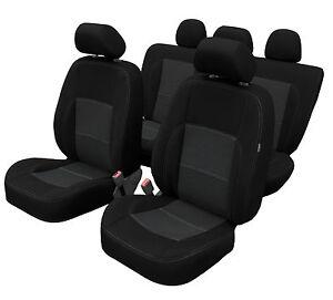 Opel Zafira B BJ 2005-2014 Maßgefertigt Maß Sitzbezüge Kunstleder schwarz grau