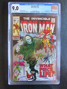 Iron Man 19 CGC 9.0 Midas Tony Stark What Price Life