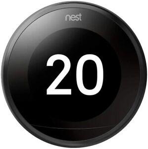 Google Nest Learning Thermostat 3rd Generation Wireless Programmable Black