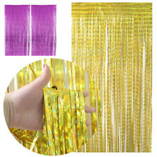 1/3Pcs Foil Fringe Curtain Tinsel Backdrop Door Curtains For Decoration 3ftx8ft