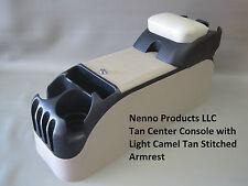 P71 Tan Center Console with Light Camel Tan Armrest 2006-2011 Crown Victoria