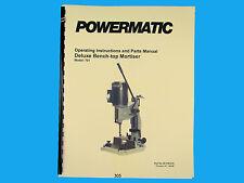 Powermatic Model 701 Bench Top Mortiser  Instruction & Parts Manual *305