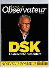 """""""DSK - DESCENTE AUX ENFERS"""" NOUVEL OBSERVATEUR / MAI 2011"""
