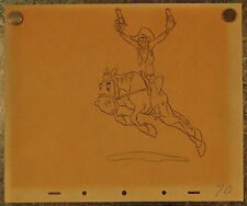 Melody Time Walt Disney Pecos Bill Widow Maker Sketch 1948 signed 10 x 12
