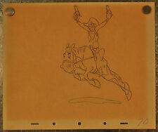 Melody Time Walt Disney Pecos Bill Widow Maker Sketch 1948 signed 10 x 12