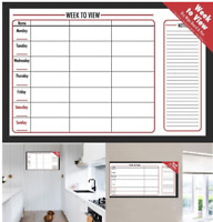Weekly Planner Organiser Memo Dry Wipe Notice Board Time Table Erasable Marker